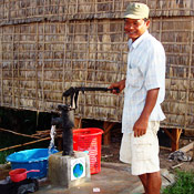 Friendly Planet sponsored well in Cambodian village