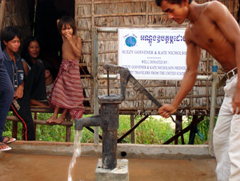 Friendly Planet well in Cambodian village