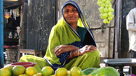 Fruit merchant in India