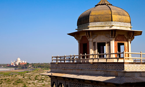 The tower from which Shah Jahan gazed upon the Taj while under house arrest
