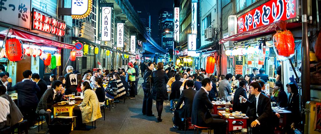 Nightlife in Yurakucho, Tokyo