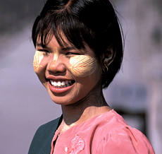 Smiling young woman, Yangon
