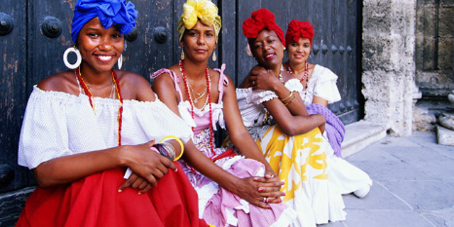 Cuban style evening dresses
