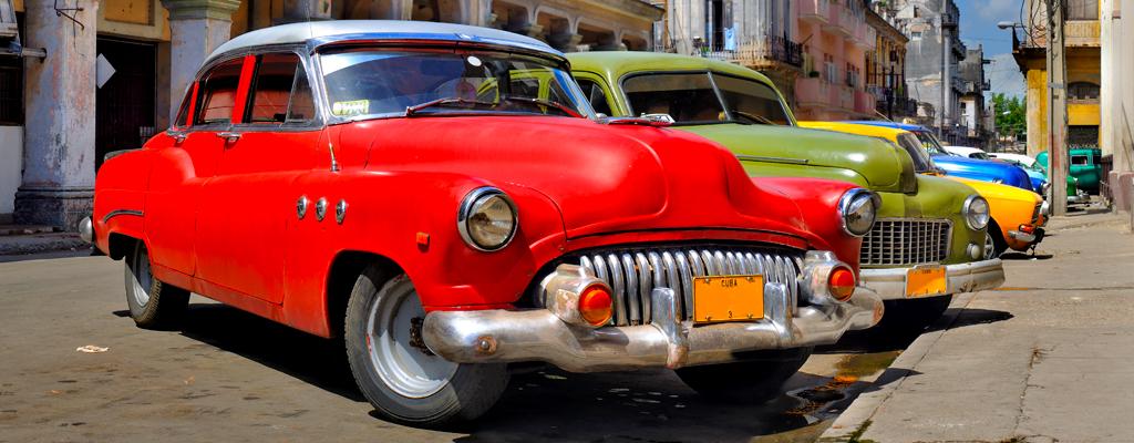 Colorful vintage cars, Havana