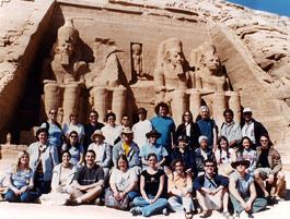Dr. Steven Derfler & group at the Temple of Ramses II