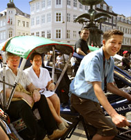 Sightseeing by Rickshaw, Copenhagen