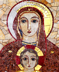 Mosaic, Basilica of Our Lady of the Rosary