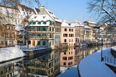 Strasbourg, France during winter