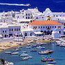 Mykonos harbor, Greece