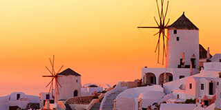 Windmills in Oia