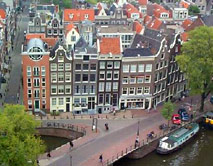 Aerial view of Amsterdam