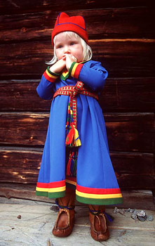 Girl in traditional Sweedish costume