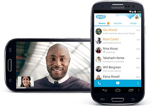 Skype on Android © Skype