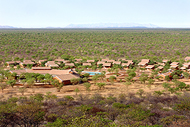 Aerial view of Damara Mopane Lodge
