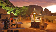 Namib Naukluft Lodge outdoor dining