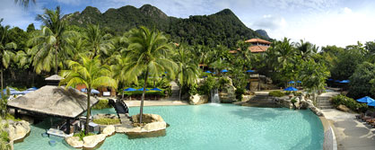 Berjaya Langkawi Beach & Spa Resort swimming pool & rainforest view