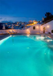 Swimming Pool with view of Santorini