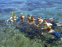 Snorkelling on the reef