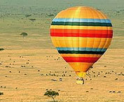 Balloon ride at Keekorok Lodge