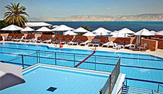 Scots Hotel pool and view over Galilee