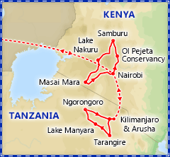 Best of Kenya & Tanzania Wildlife Safari itinerary