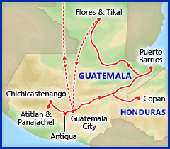 Best of Guatemala & Honduras tour itinerary