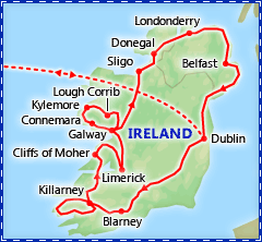 Best of Ireland tour itinerary