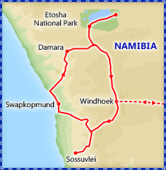 Best of Namibia itinerary