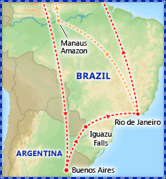 Best of South America tour itinerary