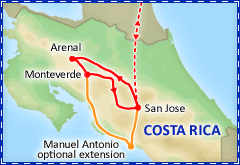Captivating Costa Rica tour itinerary