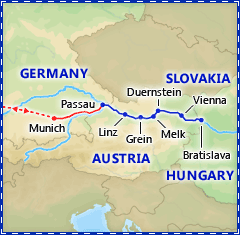 Christmas on the Danube tour itinerary