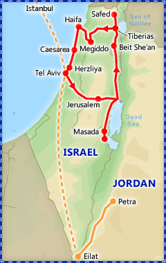 Classic Israel tour itinerary