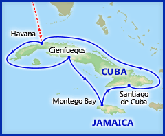 Cuba Cruise Summer Special itinerary