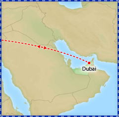 Dazzling Dubai tour itinerary map