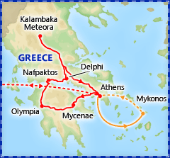 Discover Greece itinerary