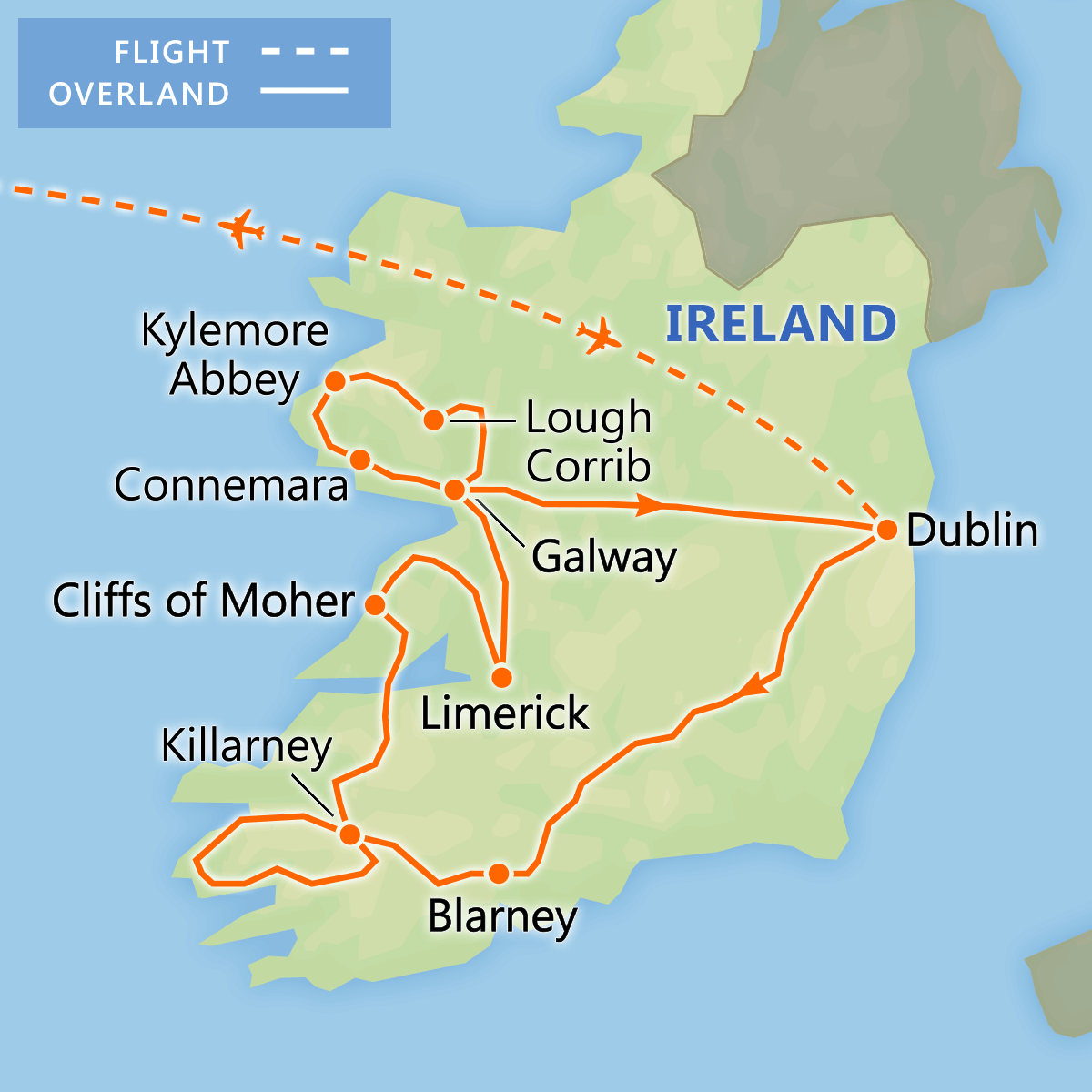 Discover Ireland tour itinerary