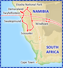 Discover Namibia tour itinerary