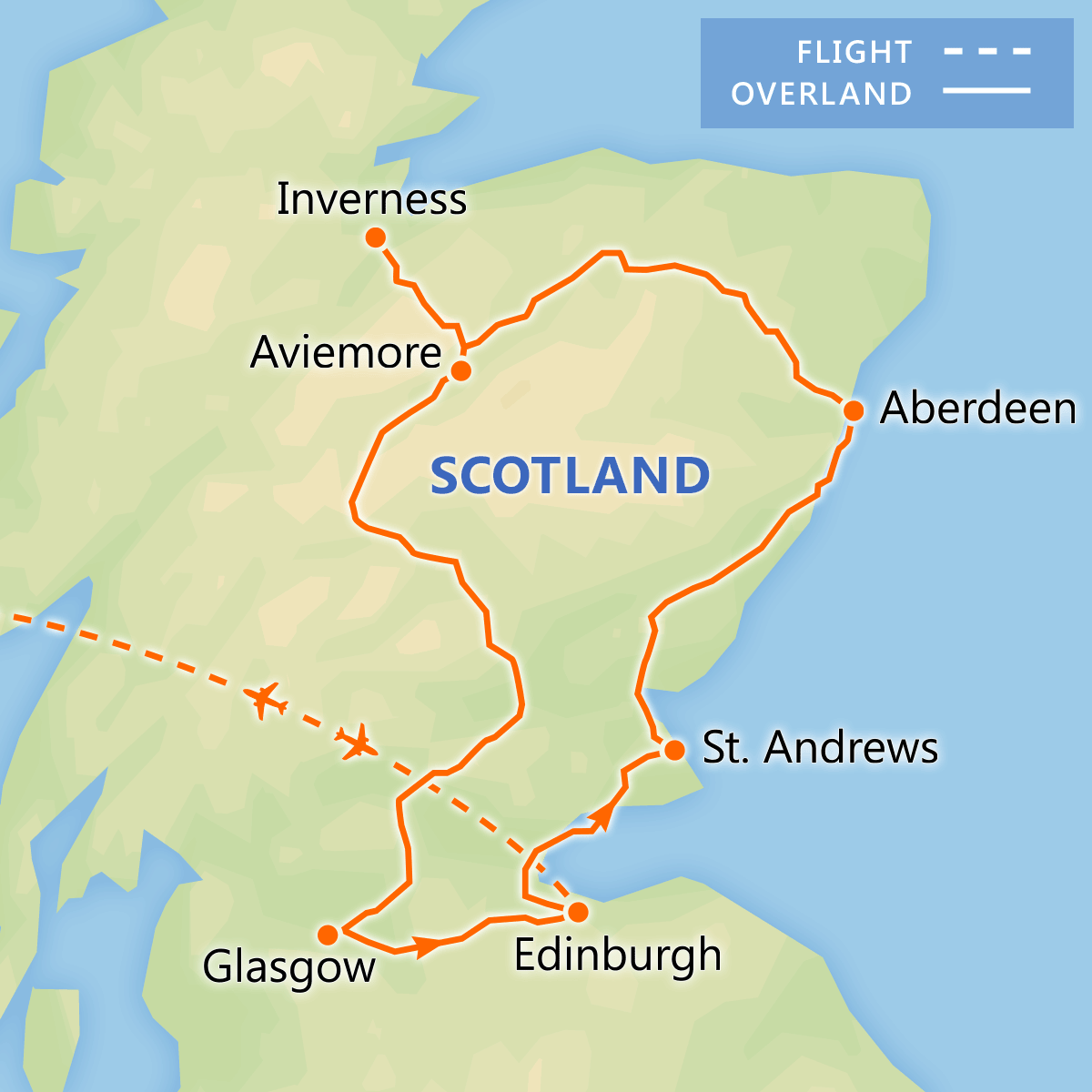 Discover Scotland itinerary