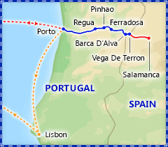 Douro River Valley Cruise itinerary