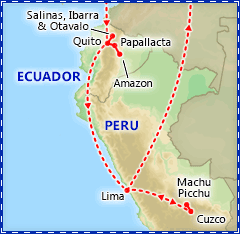 Enchanting Ecuador & Peru Tour Itinerary