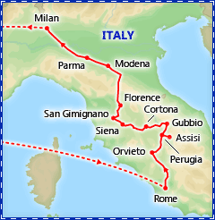 Forever Italy tour itinerary