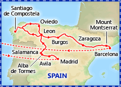 Grand Cathedrals of Spain tour itinerary