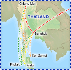 Grand Romance in Thailand itinerary