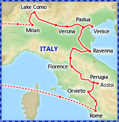 Great Basilicas of Italy tour itinerary