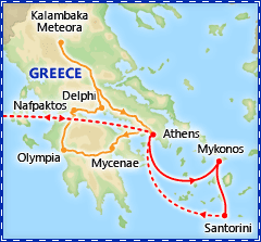 Greek Island Hopper tour itinerary