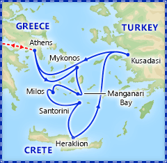 Greek Island Special with 7 Day Cruise & Athens itinerary