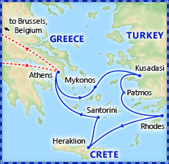 4-Day Iconic Greek Islands Cruise