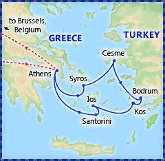 4 Day Idyllic Greek Islands Cruise itinerary