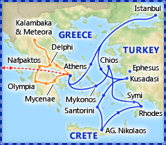 Highlights of Greece & Turkey tour itinerary