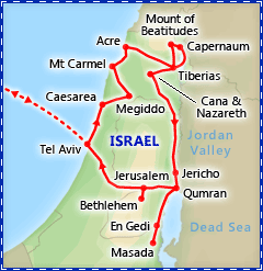 Holy Land tour itinerary